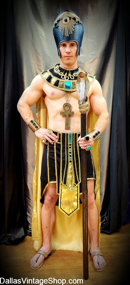 Egyptian Pharaoh, Supreme Quality Pharaoh Costume, Egyptian Pharaoh God & King, Sexy Egyptian Pharaoh Costume & Accessories are available at Dallas Vintage Shop.