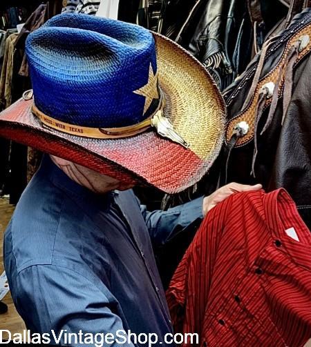 Texas Cowboy Hat, Texas Flag Cowboy Western Wear Store, Texas Flag Men's Cowboy Attire & Texas Western Wear Texas Flag Hat.