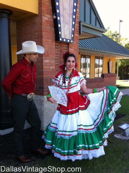Cinco de Mayo couples folklore dance costumes dallas