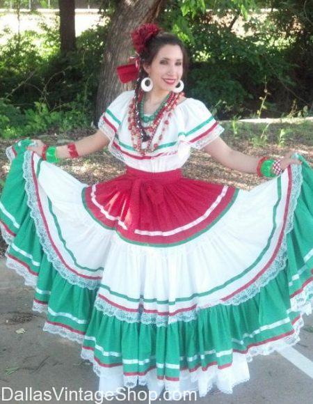 Mexican Tradition Costume Dress, Authentic Costumes of Mexico, Mexico Costumes, Mexican Costumes Dallas, Mexican Lady Costumes