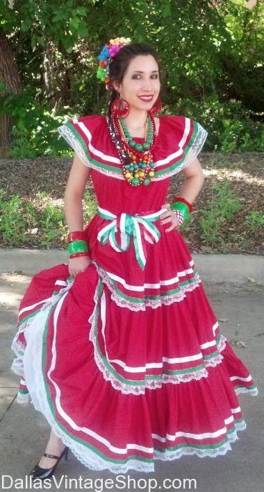 Mexican Traditional Folklore Dress, Mexican Dresses, Mexican Dresses Dallas, Mexican Senorita Dresses, ladies mexican dresses