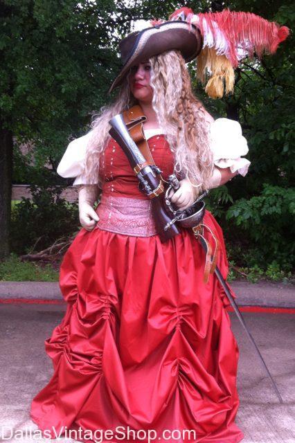 Plus Size Renaissance Costumes & Plus Size Historical, Theatrical & Theme Party Costumes are abundant at Dallas Vintage Shop.