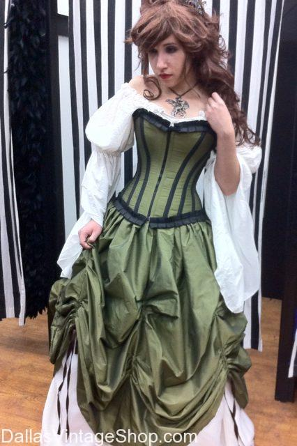 Get Corseted Dress Period Costumes, Renaissance Dresses, Period Dresses, Renaissance Ball Gowns, Renaissance Maidens Attire, Scarborough Renaissance Festival Dresses, Texas Renaissance Festival Costumes and Deluxe Ladies Renaissance Costumes at Dallas Vintage Shop.