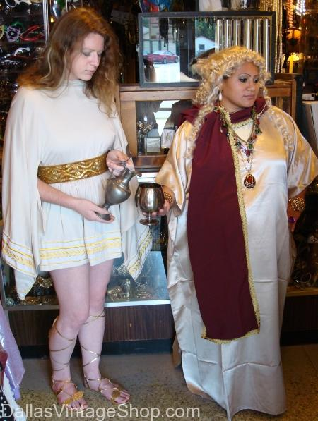 Emperor's Wife and Slave Girl, Roman, Roman Dallas, Roman Costumes, Roman Costumes Dallas, Womens Roman Costumes, Womens Roman Costumes Dallas, Roman tunics, Roman Tunics Dallas, Roman Outfits, Roman Outfits Dallas, Womens Roman Outfits, Womens Roman Outfits Dallas,