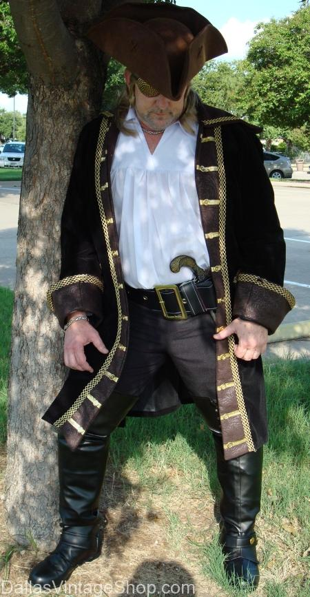 Pirate Costumes, Men's Pirate Costumes, Pirate Quality Costumes, Pirate Captain Coats, Pirate Costume Rentals, Pirate Costume Shop, Pirate Costume Accessories, Pirate Hats & Tricorns, Pirate Swords & Flintlocks, Pirate Sword Belts & Baldrics, Pirate Garb, Pirate Period Attire,