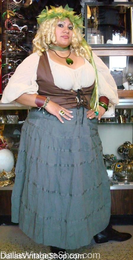 Scarborough Fair Plus Size Costumes, Plus Size Winch Costume, Scarborough Fair Costumes.