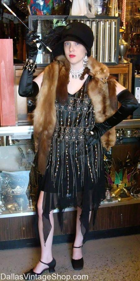 We have Dallas' 1920's SPEAKEASY ATTIRE in stock. Get these 1920's ladies costumes, 1920's aristocratic lady's Attire , 1920's Speakeasy Attire, 1920's Ladies Costumes, 1920's Wedding Guest Attire, 1920's Cocktail Attire Pictured here. We have 1920's Prohibition Attire, 1920's Costume Accessories, How to Dress 1920's, 1920's Proper Attire & Accessories.