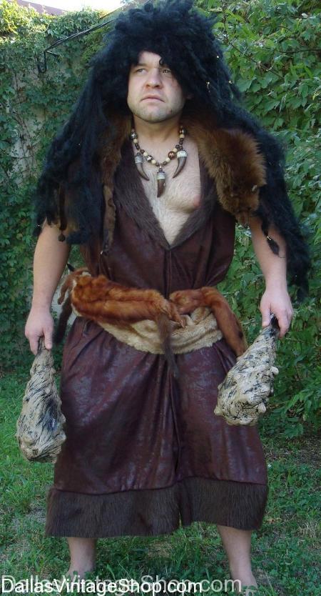 Cavemen Costume, Caveman Costumes, Prehistoric Man Costume, Primitive Man Costume
