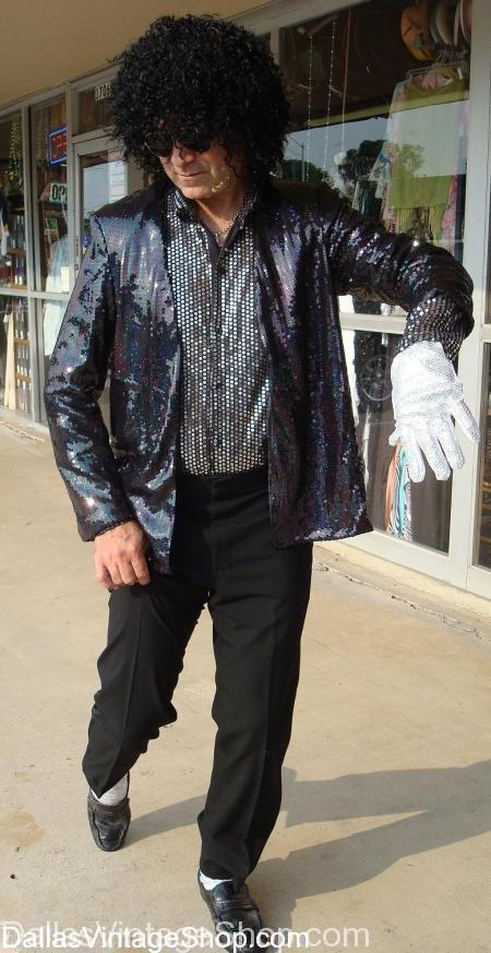 Billie Jean Costume, Michael Jackson Costume, Billy Jean Sequenced Jacket costume