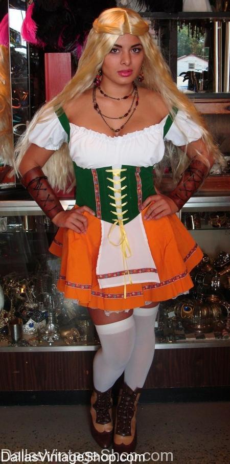 Oktoberfest Bar Maid Costume, Sexy Bar Maid Costume, Sexy German Maiden Costume