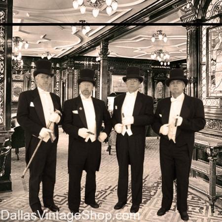 Titanic gentlemen's victorian costumes